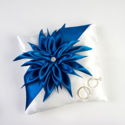 Polštářek Dahlia modrá