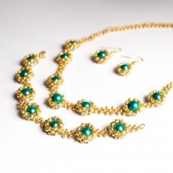Tyrkysové perly ve zlatě