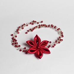 Vlasová ozdoba Červený květ