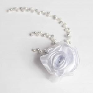 Vlasová ozdoba Bílá růže