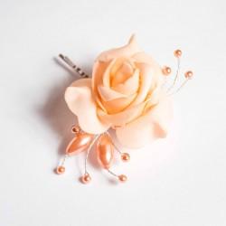 Vlasová ozdoba Meruňková růže