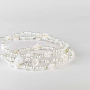 Vlasová ozdoba Růžičky v perlách