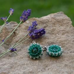 Náušnice Smaragdové kolečka